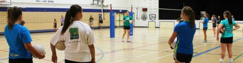 Volley Ball @ the Gull Lake School