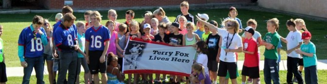 Gull Lake School's Terry Fox getting ready to walk the town
