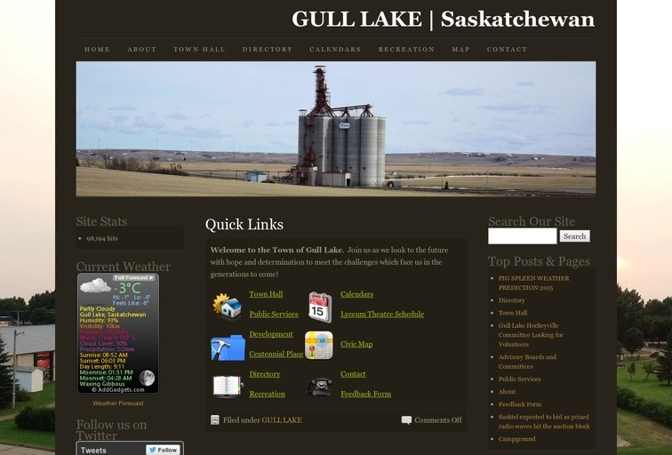 Gull Lake Website
