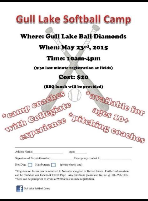 Gull Lake Softball Camp