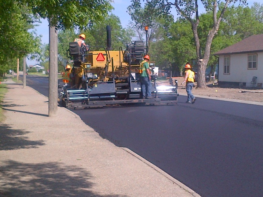 Gull Lake Paving 3rd Street 2015