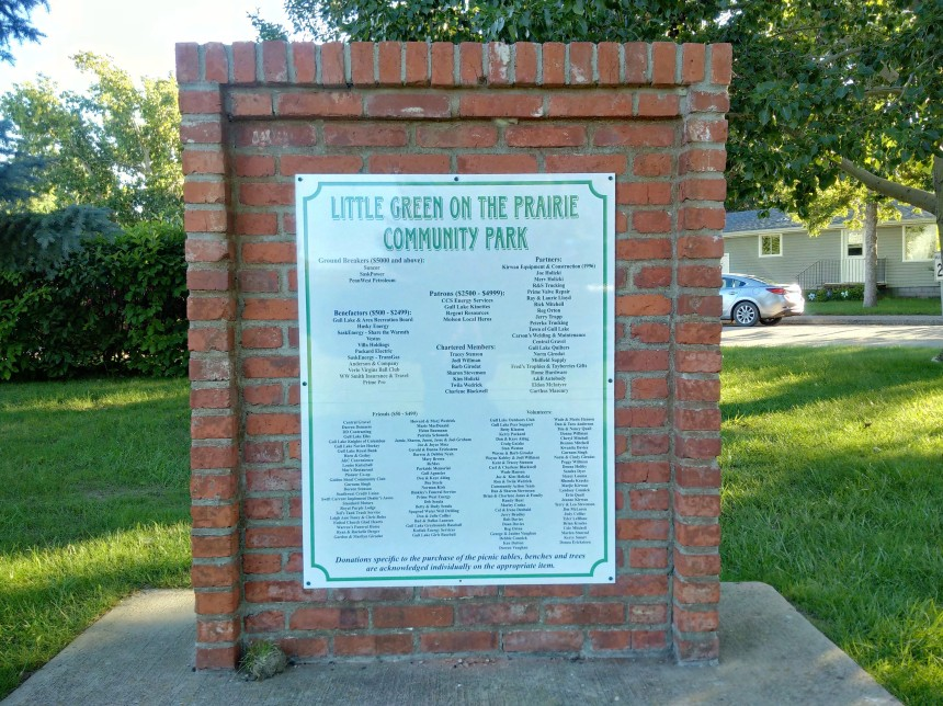 Community Park New Sign