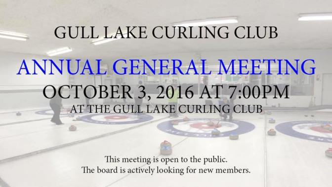 Gull Lake Curling Club Annual General Meeting