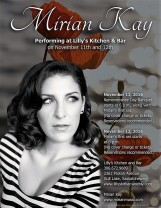 Mirian Kay Performing at Lilly's Kitchen and Bar